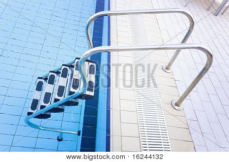 Blue Luxury Swimming Pool Full Of Water