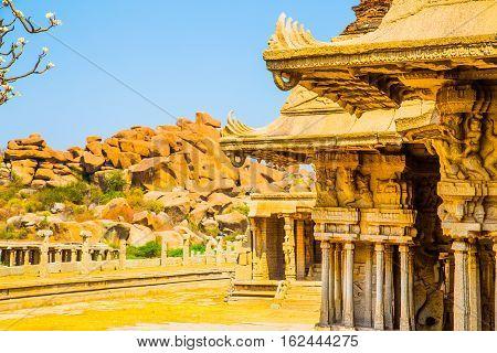 Historic building in Hampi, Unesco heritage site, India