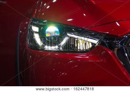 Car Headlight Or Headlamp