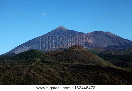 Tenerife national park with the volcano Tiede