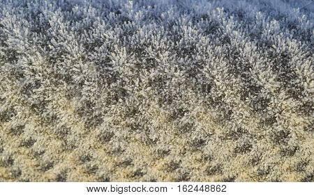 Background Of A Sheet Of Slate Covered With Frost
