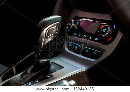 Gearshift in the car. Handle a automatic transmission.