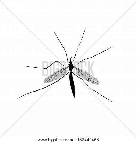 Mosquito insect silhouette vector image Mosquito Mosquito