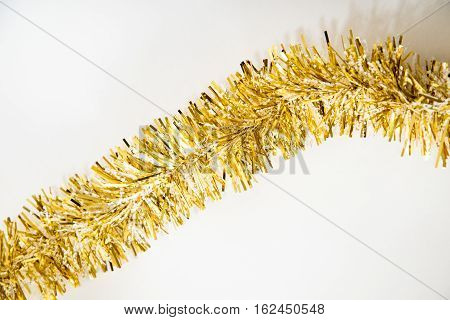 Gold Tassel On White
