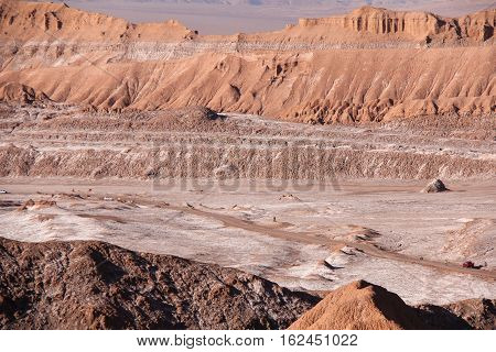Salt deposits at the Valley of the Moon in Chile's Atacama Desert