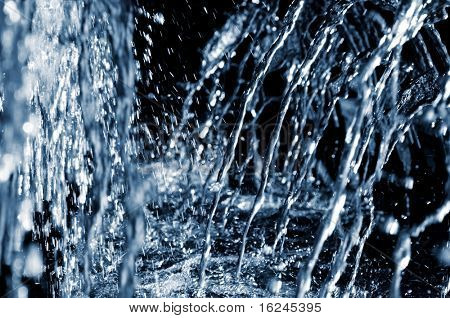 splash of crystalline water on a fountain