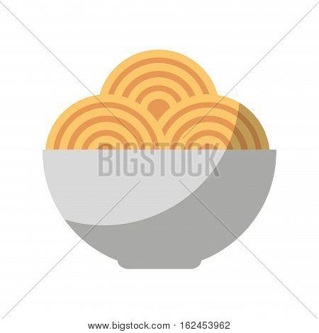 spaghetti dish isolated icon vector illustration design