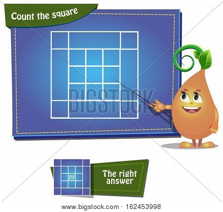 Visual Game for children. Task: Count the squares