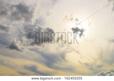 sky with cloud, cloud scape - stock photo
