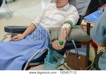 Blood Donor At Donation, Blood Donation