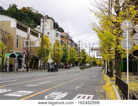 View Of Street At Downtown In Kyoto