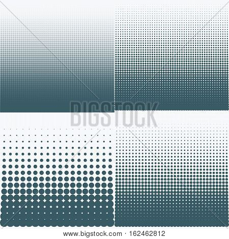 Vector illustration of a halftone pattern. Stock vector