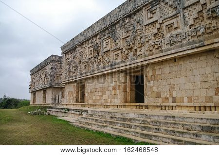 Ancient Mayan Pyramid. Uxmal, Merida, Yucatan, Mexico