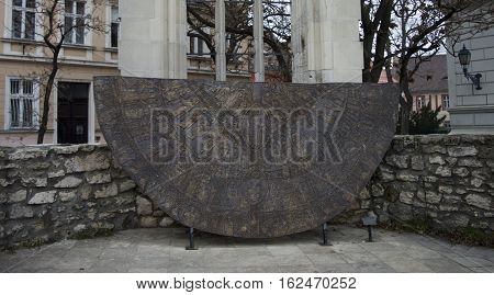 Budapest, the base of the tower of church of saint Mary Magdalene