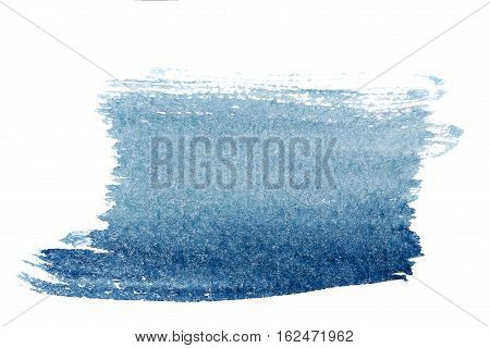 Blue watercolor background. The gradient color transition from the intense blue to light blue. Design elements.