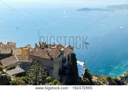 view of ocean from the top of Eze Village