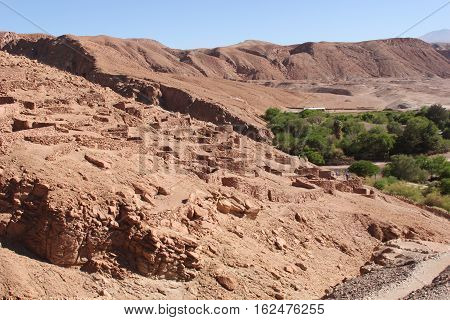Pukara de Quitor: A fortification built by the Atacameno people in the 12th century and located in Chile's Atacama Desert.