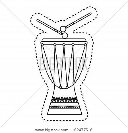 timbal tropical instrument icon vector illustration design
