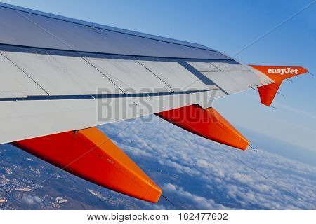 Airbus A320 Operated By Easyjet Flights Over Lisbon