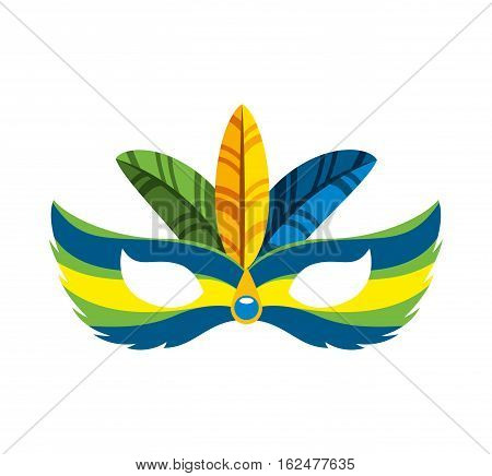 carnival mask tropical icon vector illustration design