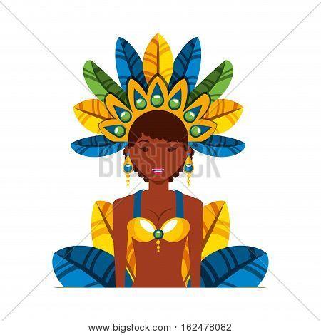 beautiful carnival dancer character vector illustration design