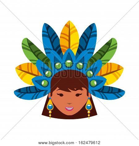 beautiful carnival dancer character vector illustration design