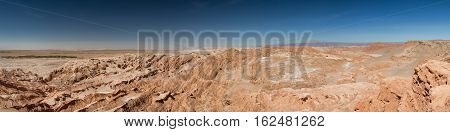Panorama of the Atacama desert San Pedro de Atacama Chile