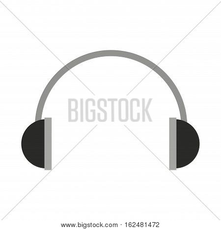 headset audio device isolated icon vector illustration design