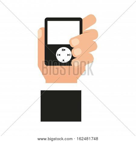 music player mp3 icon vector illustration design