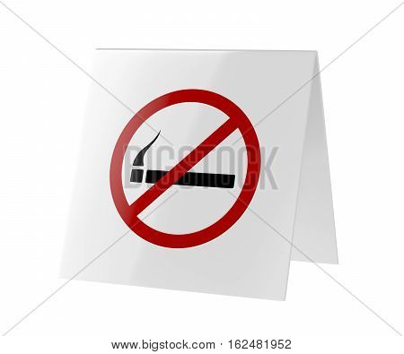 No smoking sign isolated on white background, 3D illustration