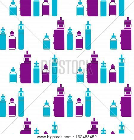 Vector seamless pattern for vape shop and vape service e-cigarette store. Endless vaporizer electronic background. Print fabric vape pattern. Wrapping vaping paper pattern.