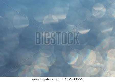 abstract bokeh circles for Christmas background light and blurred boke