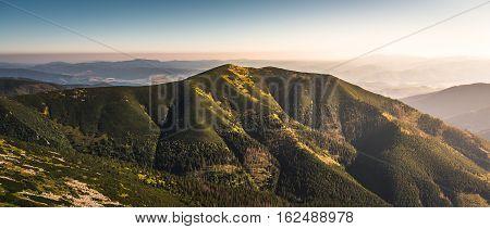 Low Tatras Mountains Slovakia. South View form the Ridge.