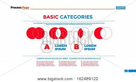 Venn diagrams slide template. Business data. Graph, chart, design. Creative concept for infographic, templates, presentation, report. Can be used for topics like analysis, logic, management.