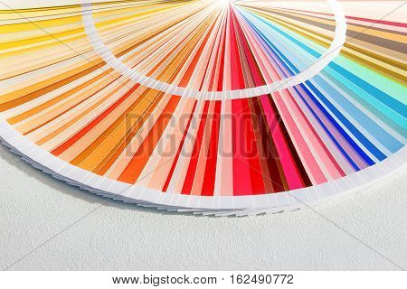 Sample Colors Catalog. Color Palette Guide