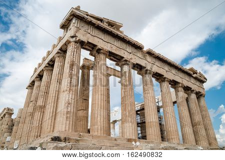 Parthenon temple on the Acropolis of AthensGreece