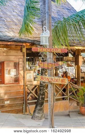 Restaurant Located At The Mambo Beach In Curacao.