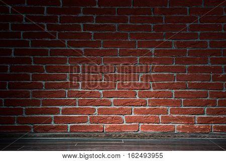 Old grunge brick wall background to interior design.
