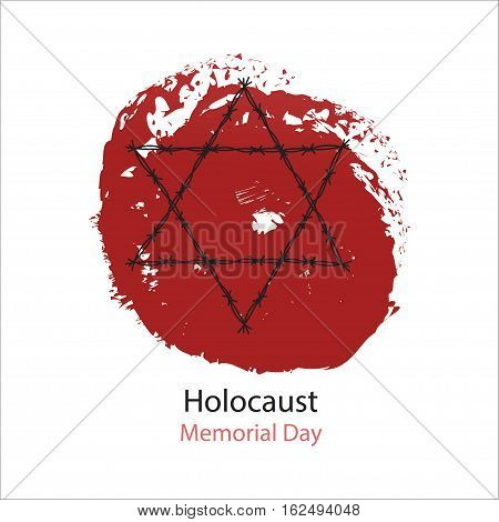 Holocaust Memorial Day. Vector illustration. World War II
