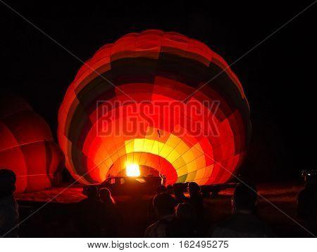 Blowing Up Hot Air Balloons At Cappadocia