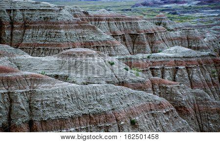 Badlands National Park Mountains South Dakota USA