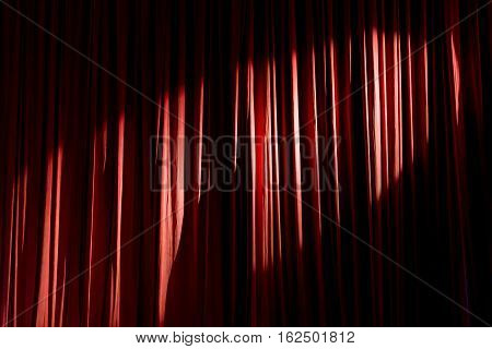 Curtain In The Theatre.