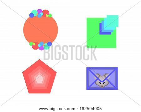 pentagon square ball the envelope mouse objects