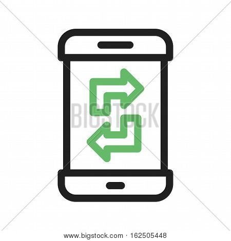 Transfer, sync, smartphone icon vector image. Can also be used for smartphone. Suitable for mobile apps, web apps and print media.