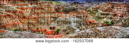 Badlands National Park South Dakota USA mountain colors