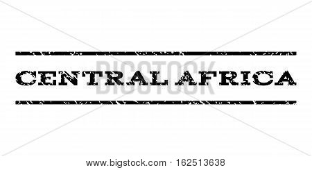 Central Africa watermark stamp. Text tag between horizontal parallel lines with grunge design style. Rubber seal stamp with dirty texture. Vector black color ink imprint on a white background.