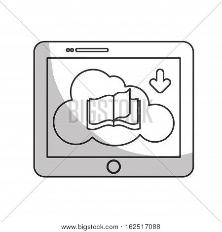 book download and tablet or ebook related icons image vector illustration design