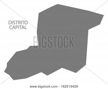 Distrito Capital Venezuela Map in grey federal state silhouette illustration