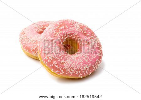 pink donut glaze on a white background