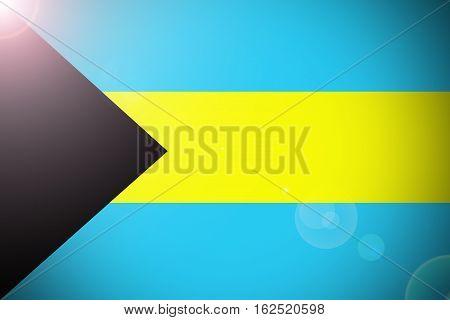Bahamas flag illustration symbol, 3D Bahamas flag